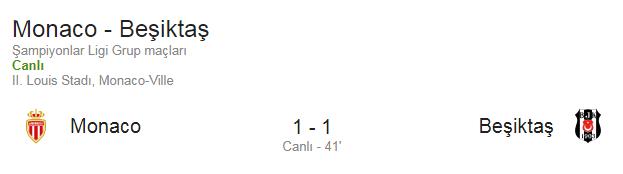 şampiyonlar ligi beşiktaş maçı