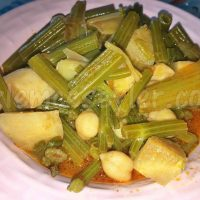 zeytinyağlı kereviz yemeği